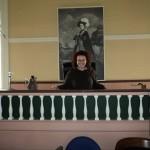 St. Andrews historic courthouse. Lauren Wheeler, presiding.