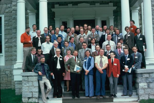 Historical geographers at the inaugural ICHG, Kingston 1975. Photo Courtesy of Thomas McIlwraith.