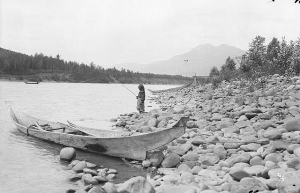 Fishing on the Skeena River, 1915. Source: William James Topley [Public domain], via Wikimedia Commons