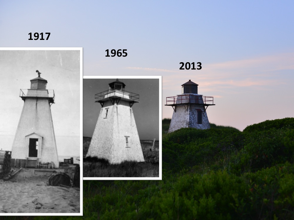 St Peters Harbour Lighthouse, 1917-2013. Compilation: J MacFadyen