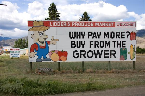 Signs for Lidder's Fruit Stand, Keremeos, BC (2008)