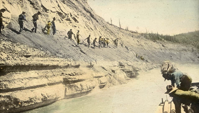Tar Sands in Alberta (ca. 1900-1930). Source: Library and Archives Canada, 12-2 L.10 A48 (21B)