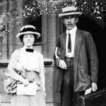 Sir Arthur George Tansley and Mrs. Edith Tansley of Cambridge University at the University of Chicago, Chicago, Illinois  Credit: American Environmental Photographs Collection, [AEP-ILS428], Department of Special Collections, University of Chicago Library.