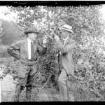 [Botanists Henry C. Cowles (left) botanist from the University of Chicago, and Professor Arthur. G. Tansley, botanist from Cambridge, England, studying leaf formations during the International Phytogeographic Excursion in America]. Chicago Daily News, Inc., photographer. CREATED/PUBLISHED [ca. 1913 Aug. 1] SUMMARY  Portrait of botanists Henry C. Cowles (left) botanist from the University of Chicago, and Professor Arthur. G. Tansley, botanist from Cambridge, England, studying leaf formations near Lake Bluff, Illinois, during the International Phytogeographic Excursion in America. The Excursion was a scientific tour of significant natural environments in the United States by a visiting party of the leading European botanical experts of the time. The party reached Chicago on Aug. 1, 1913 and stayed for three days before continuing westward. Credit: DN-0060959, Chicago Daily News negatives collection, Chicago Historical Society.
