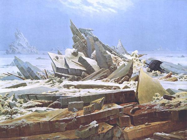 Caspar David Friedrich, Das Eismeer (The Sea of Ice), 1823-24
