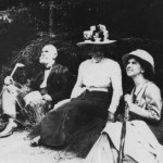 From left to right: Dr. Oscar Drude and Mrs. Drude of Dresden, Germany with Mrs. Edith Clements of Minneapolis, USA (in Germany just prior to the 1911 IPE). Photographer FE Clements.