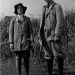 Marietta Pallis with A.G. Tansley in the Norfolk Broads, 1911 IPE. Photographer F E Clements.