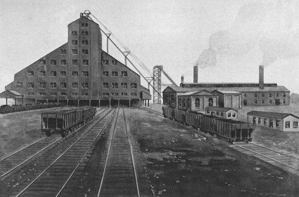 """C. W. Vernon, """"Dominion Coal Company Colliery No 2, Industrial Cape Breton, Nova Scotia, ca 1903."""" Source: Wikipedia"""