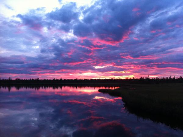 A Summer Sunset in Yellowknife by Crystal Fraser