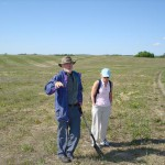 Dan Pennock and Marley Waiser lead the tour of St. Denis National Wildlife Area.