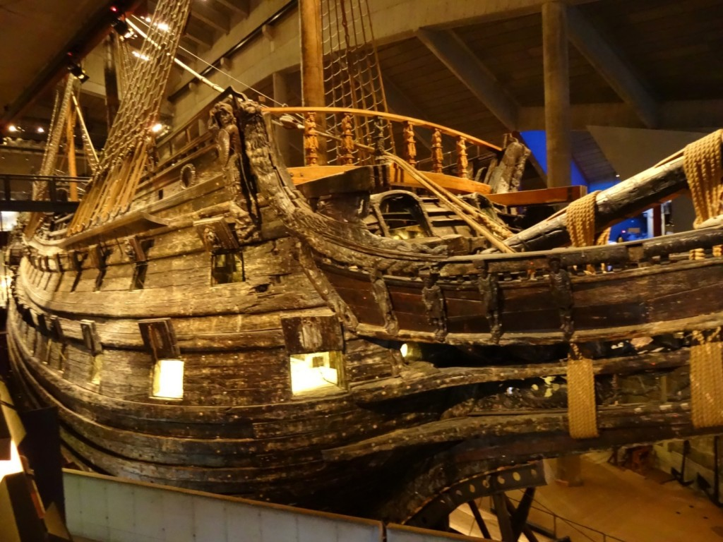 "The Vasa Museum. During a ""year without Summer"" in 1628, a gust of wind sank the poorly proportioned Vasa at it left Stockholm's harbour. Can we link the disaster to the Little Ice Age? Photo: D Degroot"