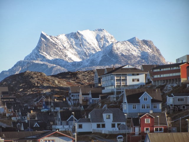 The view from downtown Nuuk, by Stephen Bocking