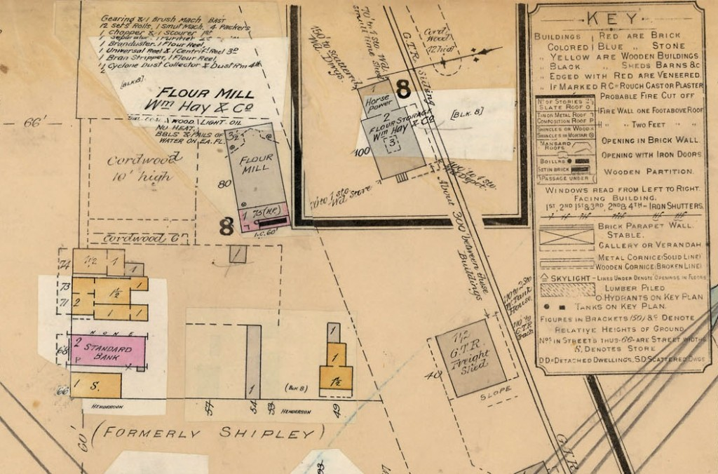 Figure 4:6: Ailsa Craig, Fire Insurance Plan (detail) 1903