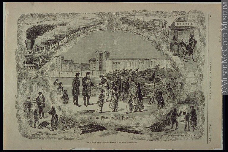 """The Wood Famine,"" Montreal 1872. Source: McCord Museum"