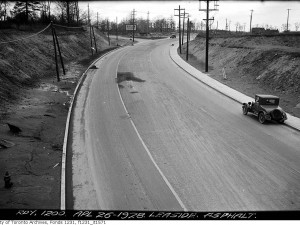 Millwood Road north to Laird Drive, 1928. Source: City of Toronto Archives, 	Fonds 1231, Item 1571.