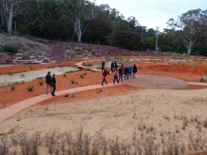 Photo by Cameron Muir.  Workshop participants visit the Australian National Botanic Gardens.