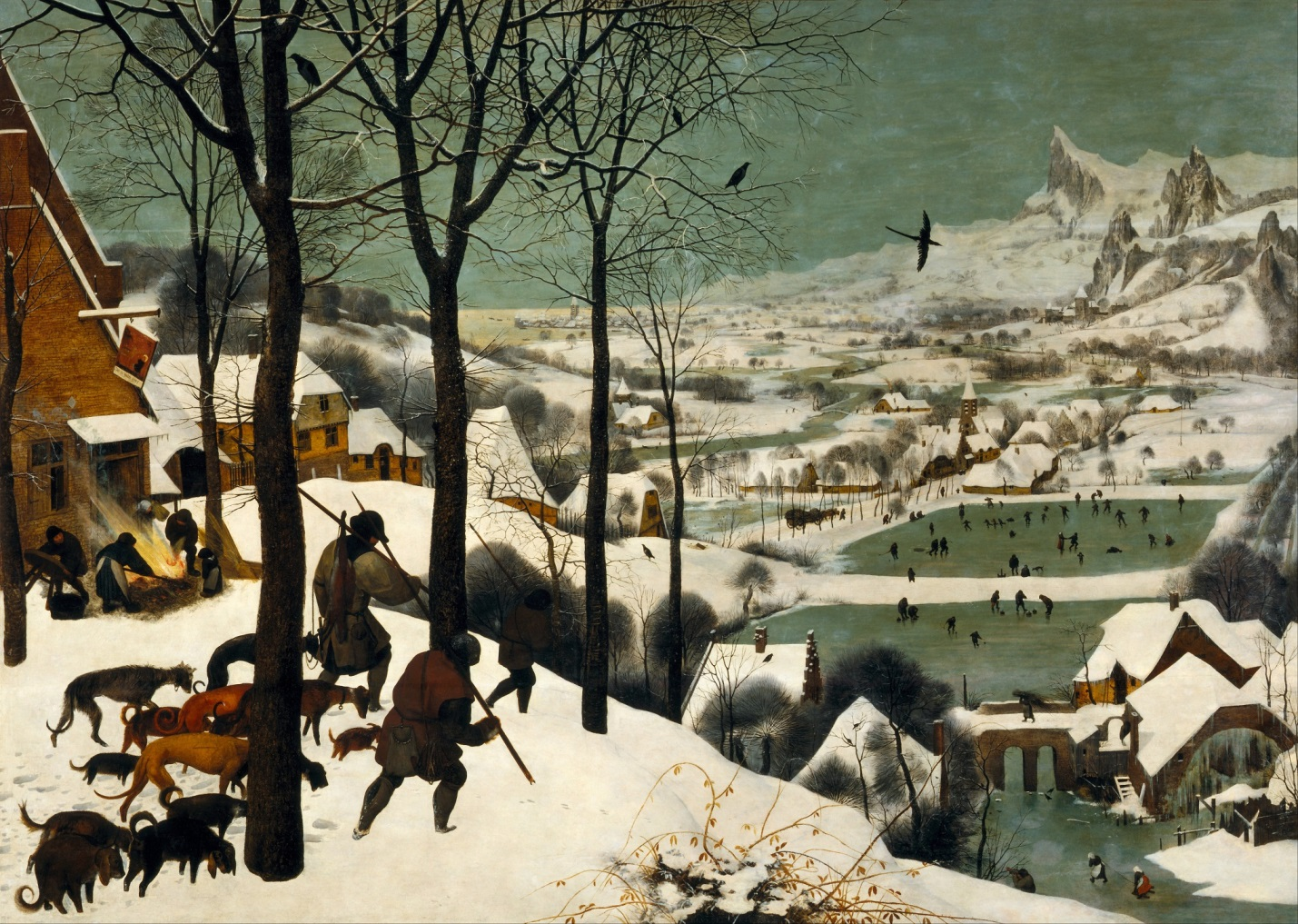"Pieter Bruegel, the Elder, ""Hunters in the Snow,"" 1565"
