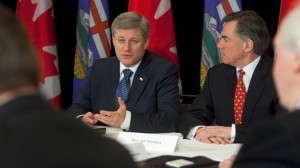 Prime Minister Harper with Jim Prentice, Minister of the Environment, 8 February 2010. Source: Office of the Prime Minister