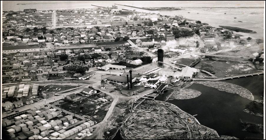 Ville de Matane, en 1950. Source: SHGM.