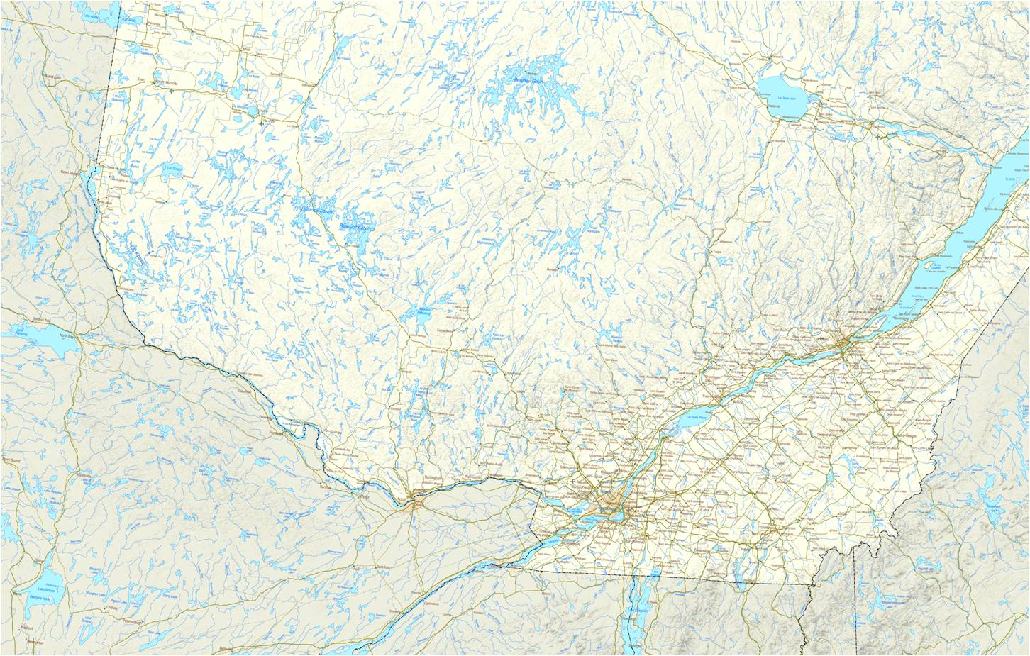 La Laurentie. Ministère de l'Énergie est des Ressources naturelles du Québec. Comprend des données ouvertes octroyées sous la licence d'utilisation des données ouvertes de l'Administration gouvernementale disponible à l'adresse Web :  www.données.gouv.qc.ca. L'octroi de la licence n'implique aucune approbation par l'Administration gouvernementale de l'utilisation des données ouvertes qui en est faite.