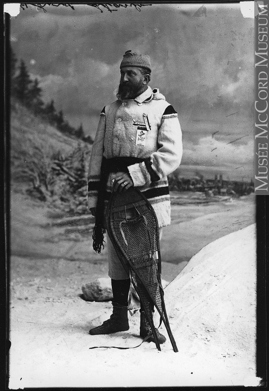 II-91495 | His Excellency Lord Stanley and snowshoes, Montreal, QC, 1890. Source. McCord Museum