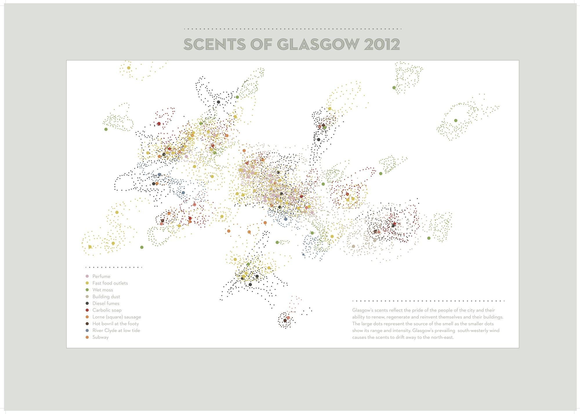 Source: Mapping How Cities Smell, Block by Block, http://www.fastcoexist.com/1682021/mapping-how-cities-smell-block-by-block