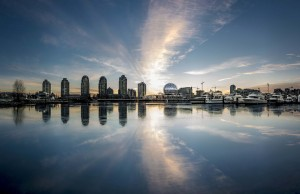 """False Creek sunrise panorama 2014"" by Gord McKenna"