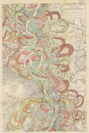 Harold Fisk's maps of the alluvial history of the Mississippi River, 1944. Source:  US Army Corps of Engineers, Engineering Geology & Geophysics Branch.