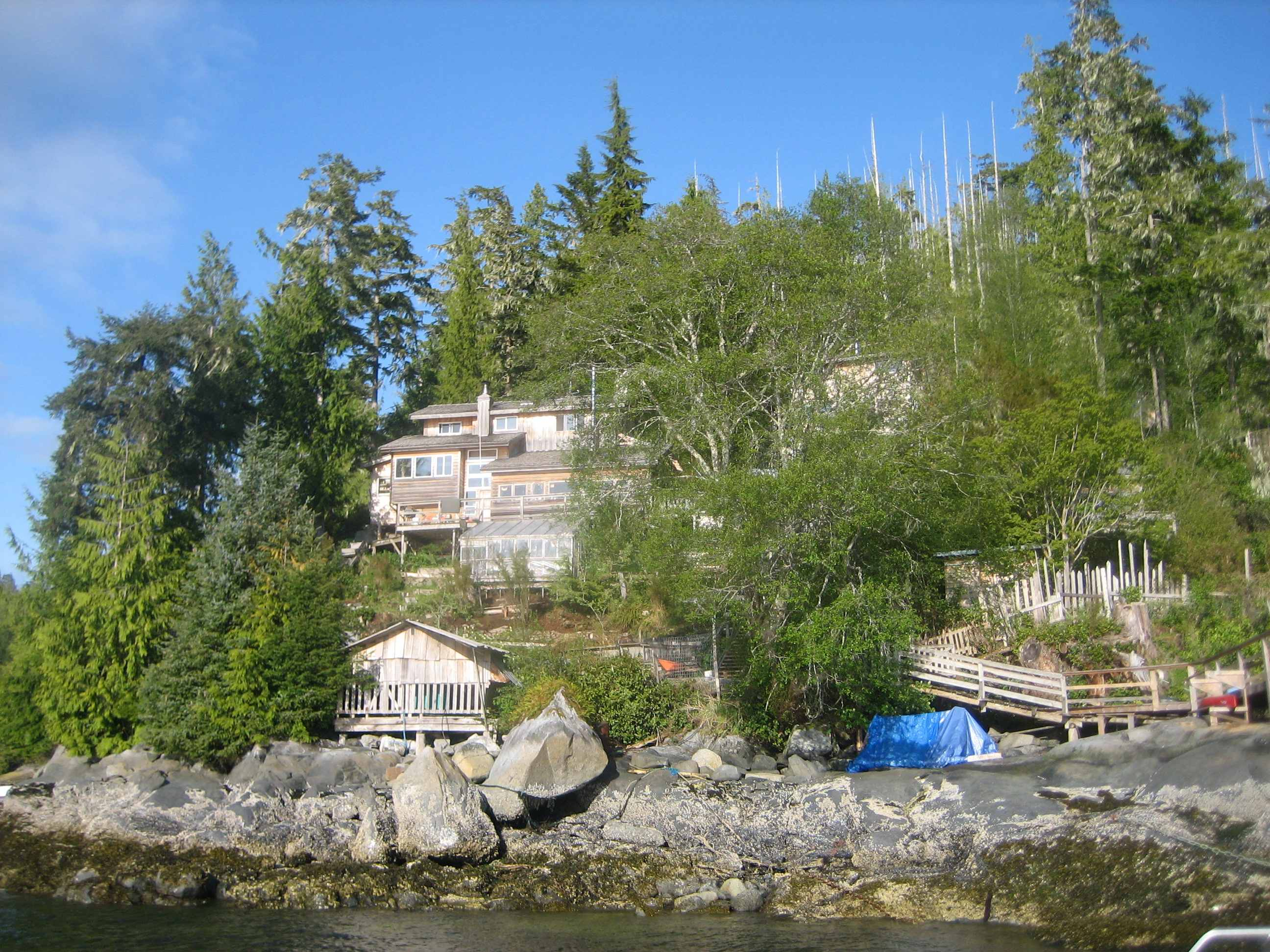 Science happens here too. Salmon Coast Field Station, British Columbia. Photo: Stephen Bocking.