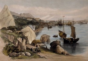 View from causeway, Bay of Jardines Building, 1846. Source: Wikimedia Commons