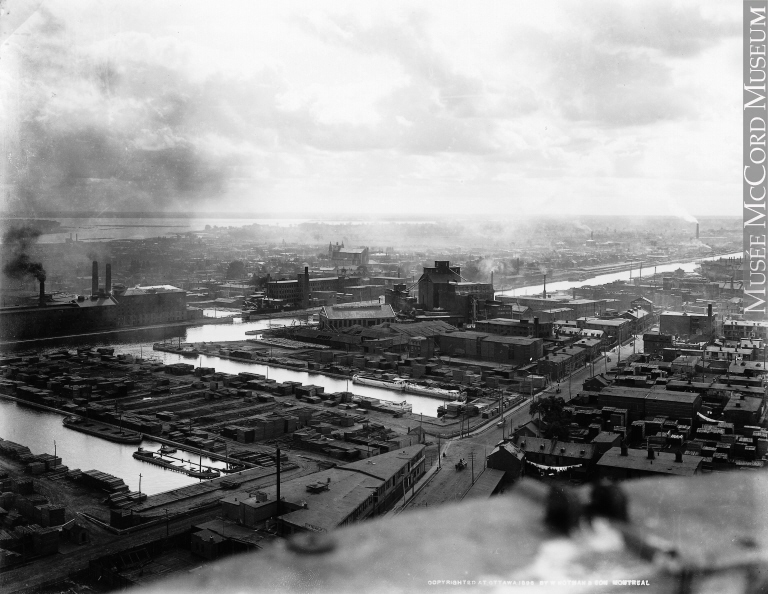 Montreal from Street Railway Power House chimney, Quebec, 1896. Photo courtesy of Musée McCord Museum.