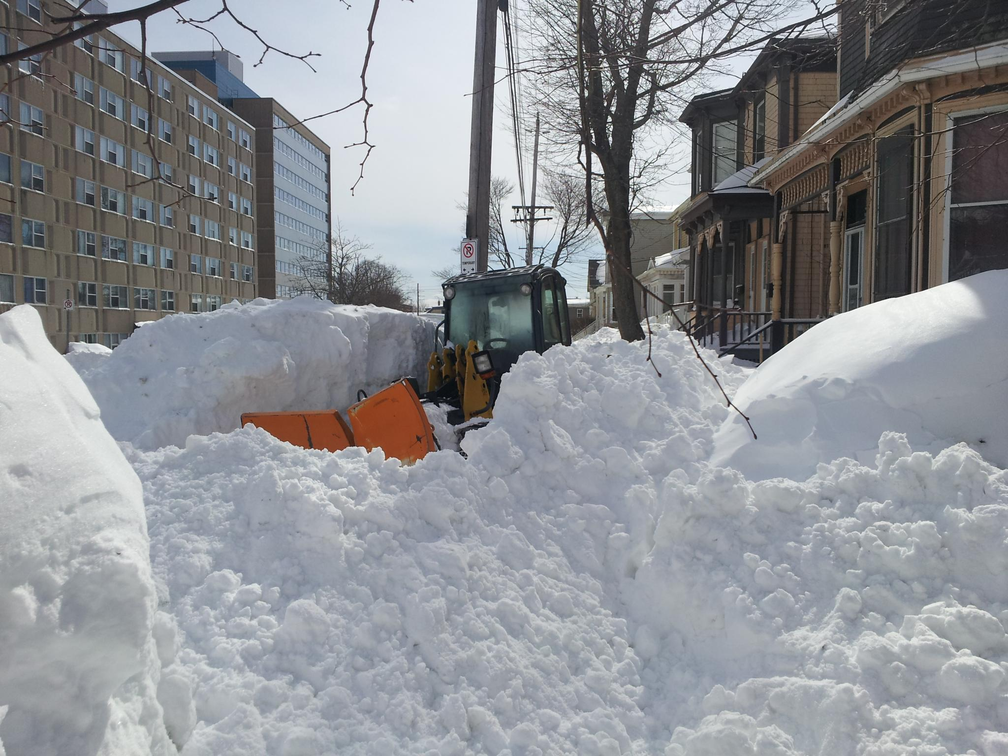 Stuck sidewalk plow, Halifax, March 2015. Source: Flickr, urbanmkr