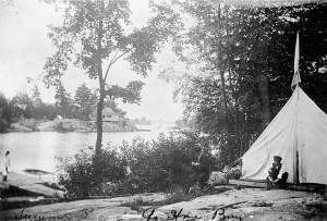Summer days in Go Home Bay. (item 1) (JPG) Credit: J.W. Bald/Library and Archives Canada/PA-029360.