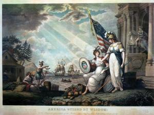 America Guided by Wisdom, John J. Barralet (1820)