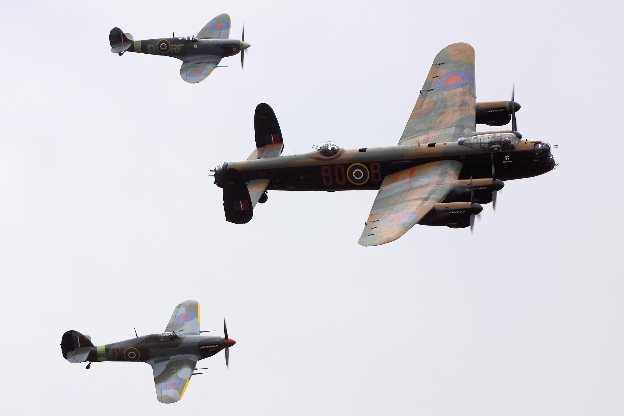 Battle of Britain Memorial Flight, 2010. Source: Wikimedia Commons.