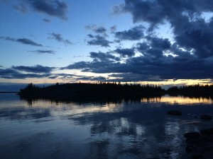 Horseshoe Island, Great Slave Lake, June 14, 1.35am.