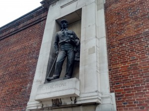 Livingstone Monument at Royal Geographical Society, London. Source: S. Kheraj