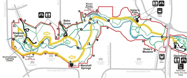 Fish Creek Park Western Trails. Source: bigdoer.com
