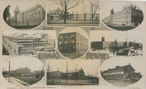"Image 2--""Some of Oshawa's Factories"" in 1910. ""Oshawa's Factories,"" Henderson Bros., Picturing Canada,"" British Library and Wikimedia Commons,22386, 1910."