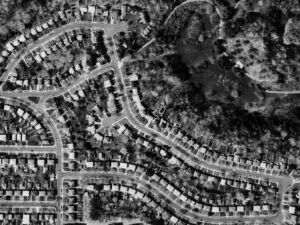 Aerial Photograph of North Leaside and Serena Gundy Park, 1983