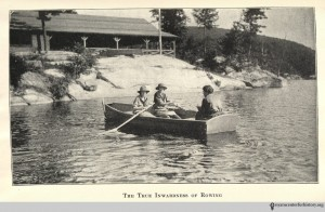 """True Inwardness of Rowing"" 'Campward Ho!' by Girl Scouts of the United States of America (1920) Source: Hyperallergic"