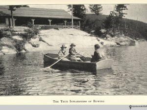 """""""True Inwardness of Rowing"""" 'Campward Ho!' by Girl Scouts of the United States of America (1920) Source: Hyperallergic"""