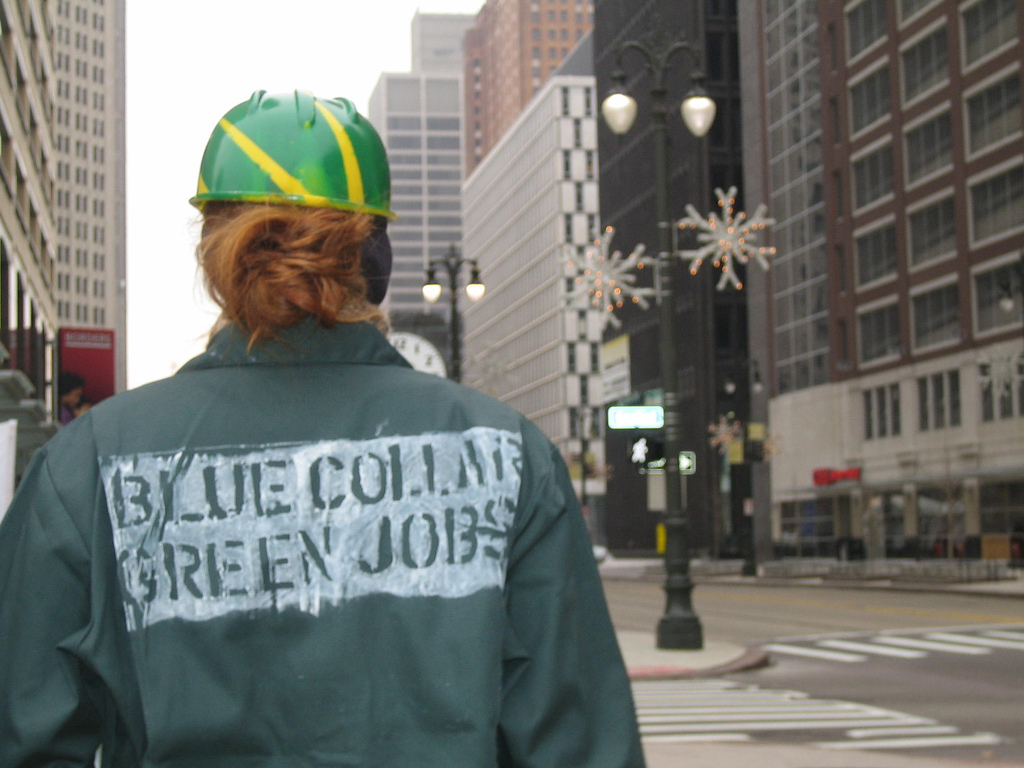 when blue meets green the intersection of workers and blue collar green jobs