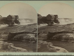 Chaudière Falls, 1880. Source: Library and Archives Canada, 3236286.