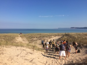 Daniel Macfarlane's ENVS 1100 class at Sleeping Bear National Lakeshore in Fall 2015