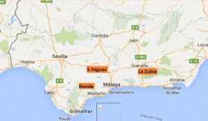 Location of Three Experimental Field sites, Andalusia, Spain