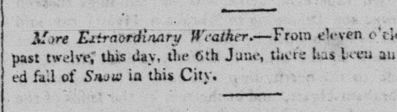 Quebec Gazette, 6 June 1816.