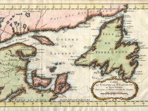 J.N. Bellin, Carte du Golphe de St-Laurent et Pays Voisins (1760, Wikimedia Commons)