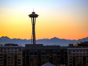 """""""Seattle Sunset"""" Source:  Flickr."""