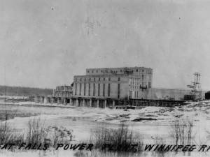 Great Falls Power Plant on Winnipeg River, 1927. Source: Library and Archives Canada, 3381560.